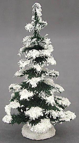 Vintage Snow Covered Pine Tree