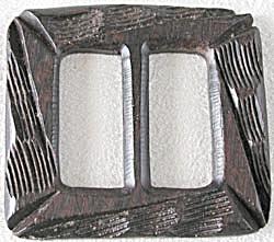 Vintage Wooden  Geometric Buckle  (Image1)