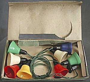Vintage Multi Color Plastic Bell Christmas Lights (Image1)