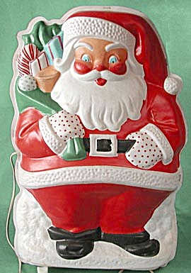Vintage 1940s Good Lite Santa in Original Box (Image1)