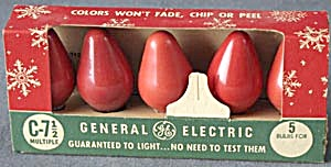 Vintage G E Red Bulbs