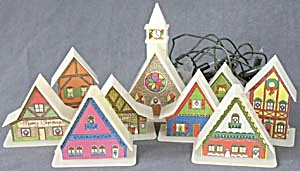 Vintage Christmas Light Up Village (Image1)