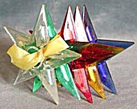 Vintage Star Christmas Tree Light Reflectors Set of 5 (Image1)