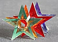 Vintage Large Plastic Star Reflectors Set of 7 (Image1)