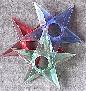 Vintage Small Plastic Star Reflectors Set of 3 (Image1)