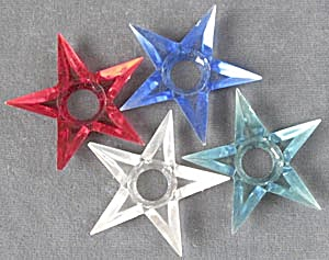 Vintage Small Plastic Star Reflectors Set Of 4