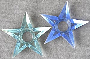 Vintage Small Plastic Star Reflectors Set Of 2