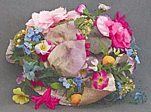 Vintage Women's Floral Hat by Chanda (Image1)