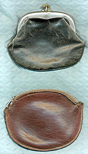 Vintage Pair of Leather Change Purses (Image1)