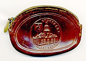 Vintage German Leather Coin Purse (Image1)