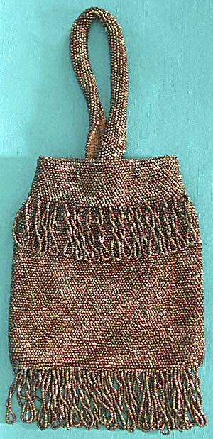 Vintage Carnival Glass Beaded Purse (Image1)