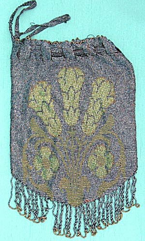 Vintage Arts and Craft Metal Beaded Purse (Image1)