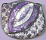 Vintage Purple & Silver Sequin Purse (Image1)