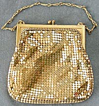 Vintage Whiting & Davis Gold Mesh Evening Purse (Image1)