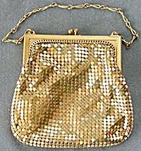 Whiting And Davis Gold Mesh Evening Elegant Vintage Purse