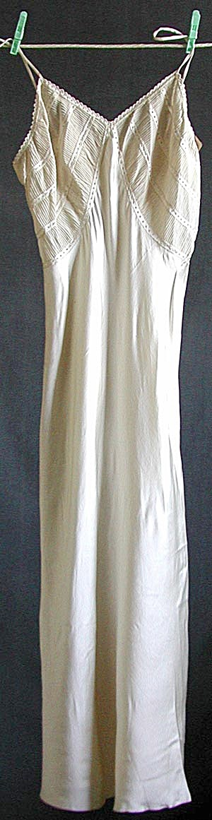 Vintage Made in Italy White Silk Full Slip (Image1)