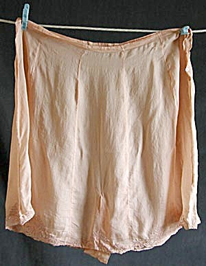 Vintage 1920's Tea Rose Silk Tap Pants