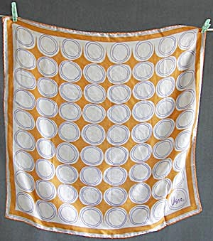 Vintage Vera Orange Pattern Scarf (Image1)