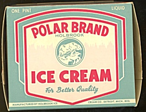 Vintage Polar Brand Ice Cream Box