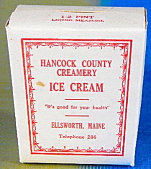 Vintage Hancock County Creamery Ice Cream (Image1)