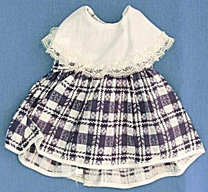 Vintage Blue & White Check Dress (Image1)