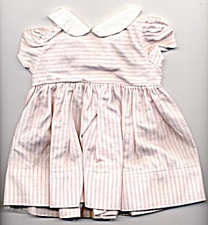Vintage Pink and White Stripe Dress (Image1)