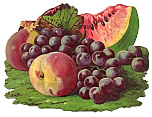 Vintage Large Scrap Fruit Die Cut (Image1)