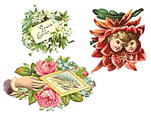 Vintage Die Cut Scrap Mix (Image1)