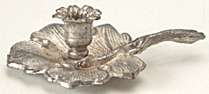 Vintage Dollhouse Miniature Pewter Candlestick  (Image1)