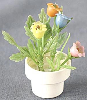 Vintage Dollhouse Flowers in Pot (Image1)