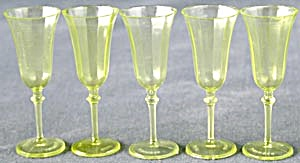 Vintage Plastic Dollhouse Wine Glasses Set Of 5