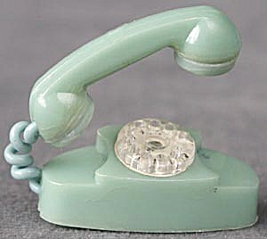 Vintage Plastic Dollhouse Telephone