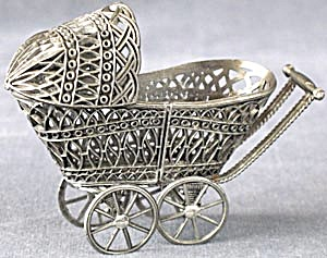 Spelter Doll Buggy
