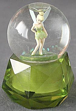 Disney's Tinker Bell Green Mini Snow Globe
