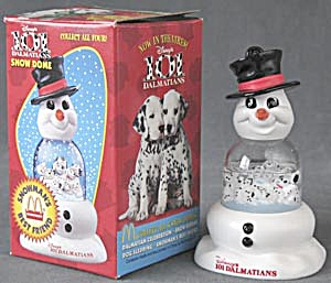 Disney 101 Dalmatians Snow Dome Snowman's Best Friend