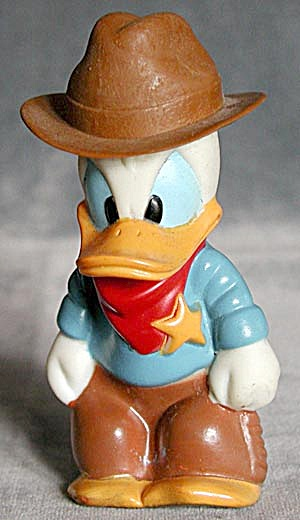 Donald Duck As A Western Sheriff Plastic Bottle