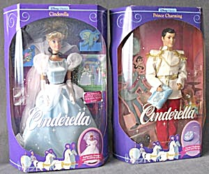 Cinderella & Prince Charming Dolls With Glass Slippers