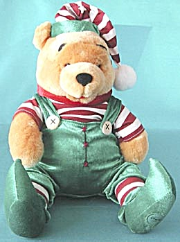 Disney Winnie The Pooh Plush Christmas Elf (Image1)