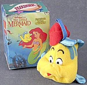 Vintage Disney's Little Mermaid Flounder Ornament