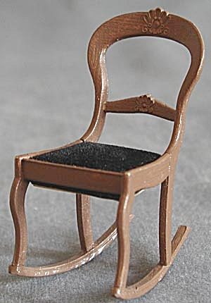 Vintage Doll House Rocking Chair (Image1)