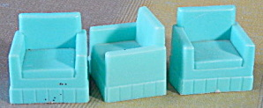 Vintage Plastic Dollhouse Chairs Set Of 3