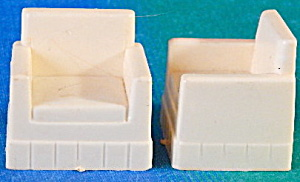 Vintage Plastic Dollhouse Chairs Set Of 2