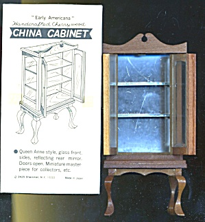 Vintage Dollhouse China Cabinet