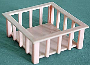 Vintage Plastic Dollhouse Playpen