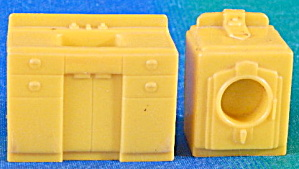 Vintage Plastic Dollhouse Washer & Sink
