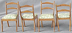 Vintage Dollhouse Dinning Room Chairs Set Of 4