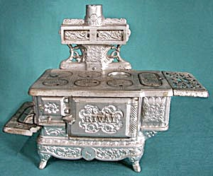 Large Rival Nickel Plated Child's Stove