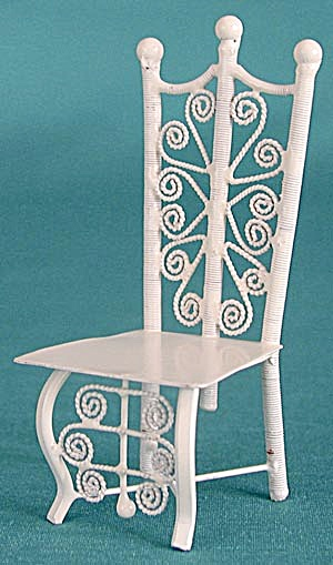 "Vintage 4"" Metal Doll Chair"