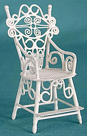 Vintage Fancy Metal Doll Chair (Image1)
