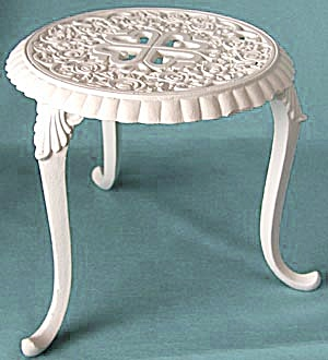 White Metal Doll Table